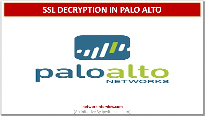 Palo alto SSL Decryption
