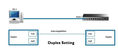 Duplex and Speed Setting on Switch 10
