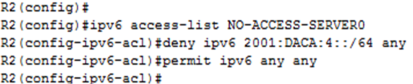 IPv6 ACLs Types and Configuration 6