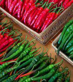 Green Chillies or Red Chillies