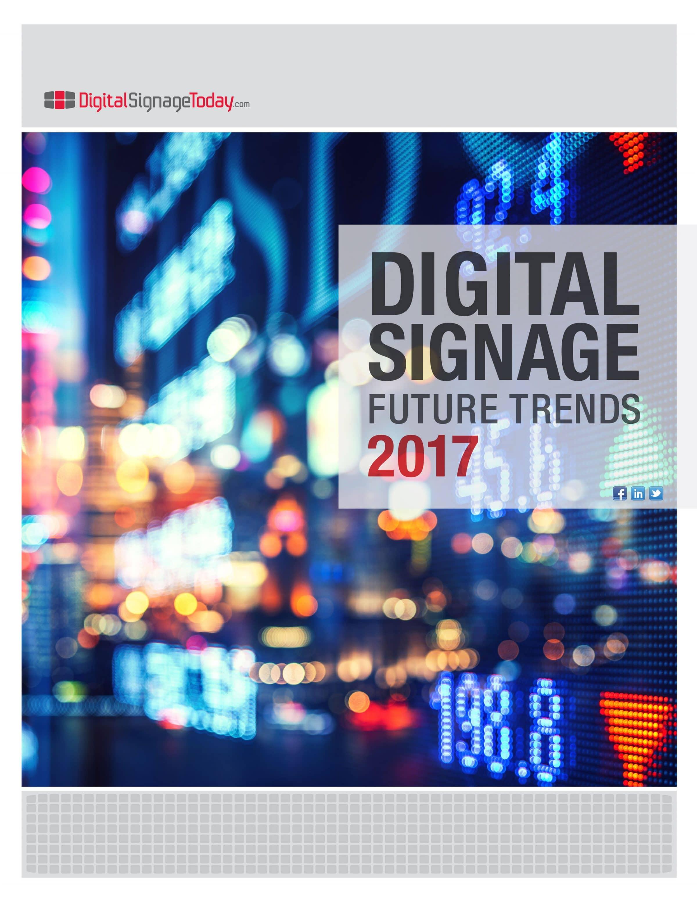 2017 Digital Signage Future Trends
