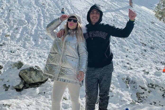 Carolina Cotugno with her husband