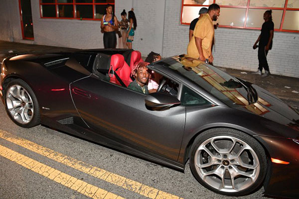 Young Thug On His Luxury Car