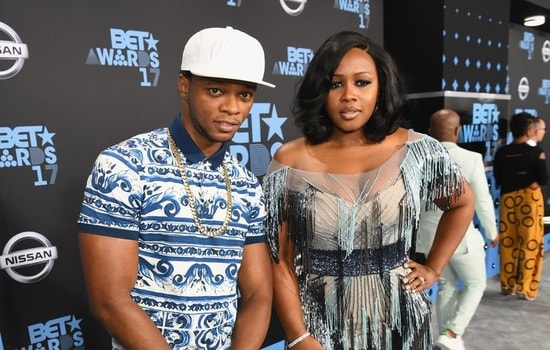 Remy Ma with husband Papoose at the 2017 BET awards.