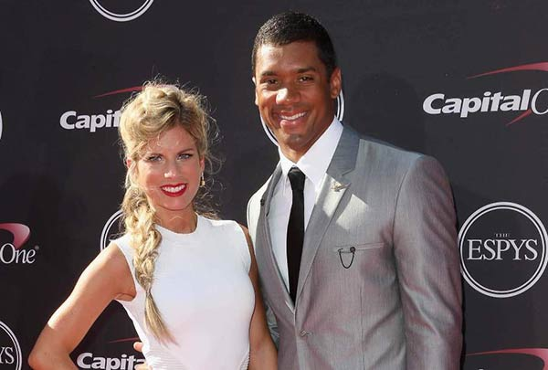 Image of Ashton Meen with her husband Russell Wilson