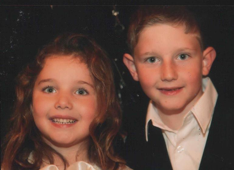 Image of Mor Shapiro daughter Leeya Eliana Shapiro and son