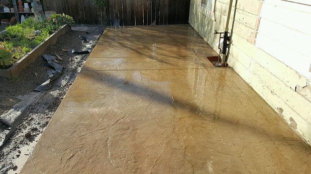 concrete patio is the finishing touch