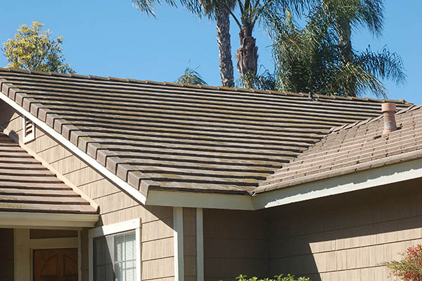 cement tile roof repair took some