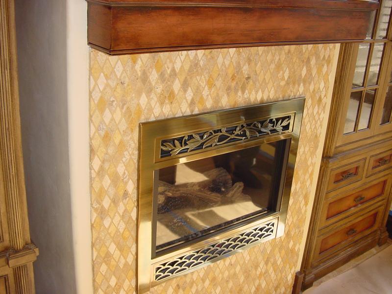 glass tile fireplace networx