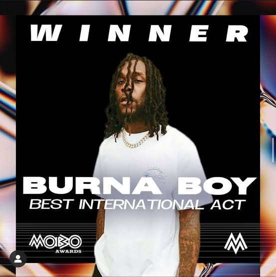 Burna Boy bags best international act at the 2020 MOBO awards