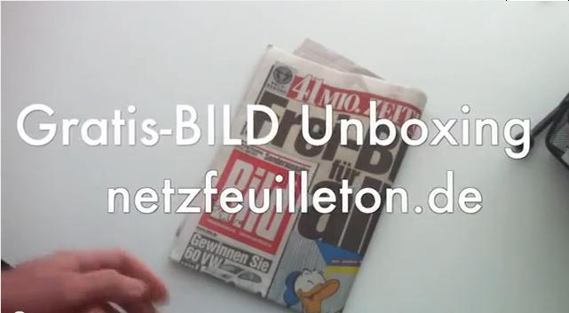 Gratis-BILD Unboxing