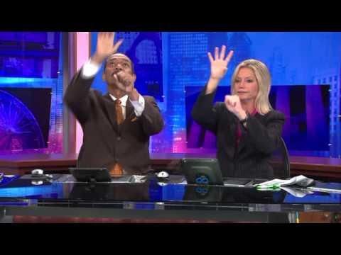 Nachrichtensprecher Handshake