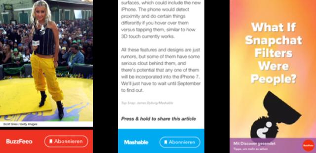 Snapchat Update: Links teilen