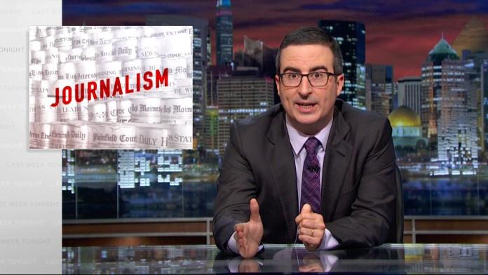 John Oliver: Printjournalismus ist noch immer das Fundament des Journalismus