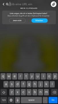 Snapchat Link einfügen