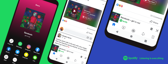 Facebook baut Spotify Player in seine App ein