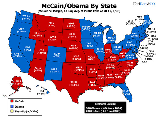 karl rove forecasts obama landslide