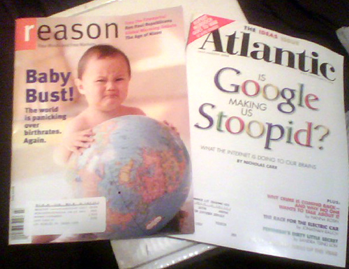 dumb magazines with babies and stoopid google