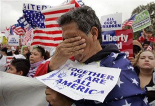 Immigration Rally, Los Angeles, April 10, 2006