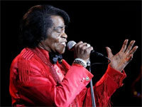 James Brown performs inChina, February 2006, AP