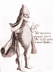 Stich eines Meermannes von 1531