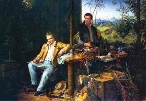 Humboldt und Bonplant im Dschungel