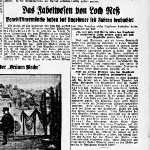 Dt. Reichszeitung vom 27.1.1934