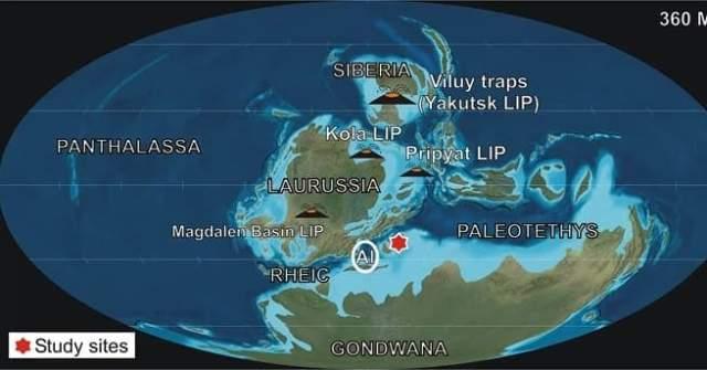Weltkarte Devon