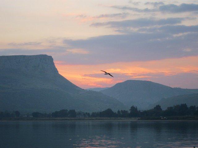 Sonnenuntergang am See Genezareth