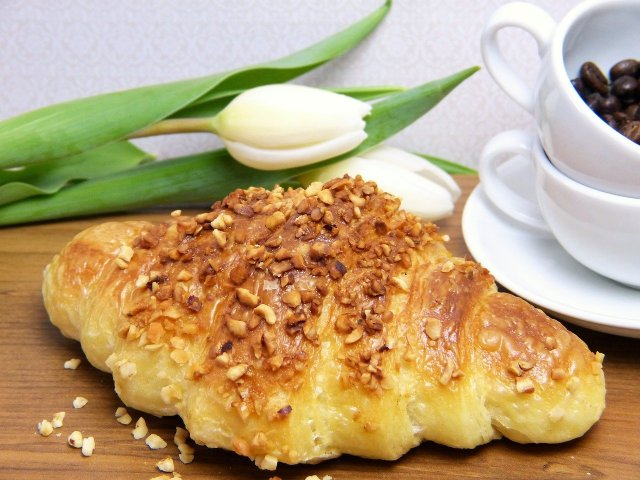 Croissant am Frühstück