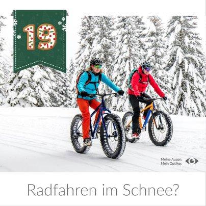 Radfahren im Schnee?