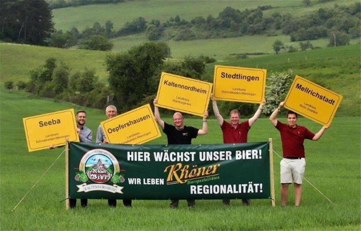 Hier wächst unser Bier. Vertreten durch Doerr-Agrar, die Rhön Bier Brauerei und die Malzfabrik Lang.