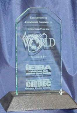 award acrylic snapin