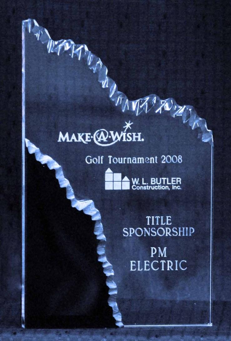 award acrylic waterfall layers