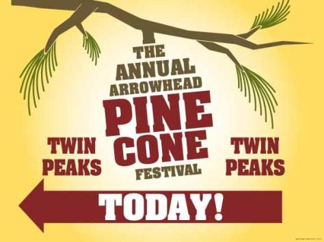 pine cone festival directionals