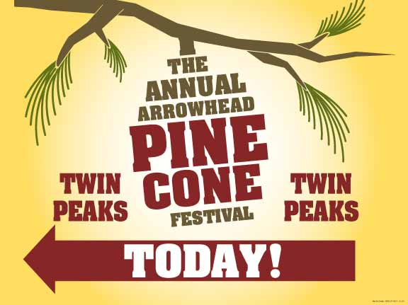 pine cone festival directionals