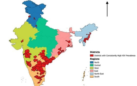 Developed, urbanized districts have high HIV prevalence: study