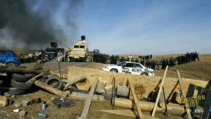 Das Oceti Sakowin Treaty Camp in North Dakota wurde gewaltsam geräumt.