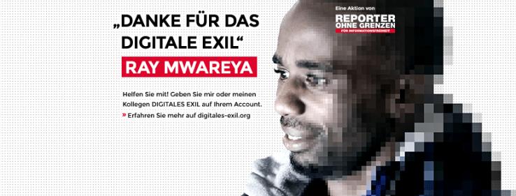 Aktion Digitales Exil von von Reporter ohne Grenzen zum Tag der Menschenrechte.