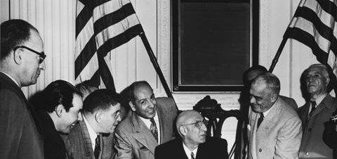 Premierminister Mossadegh zu Besuch in den USA 1951.