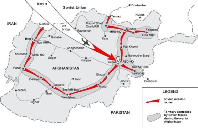 Am 25. Dezember 1979 überschritten Einheiten der sowjetischen 40. Armee die Grenze nach Afghanistan.