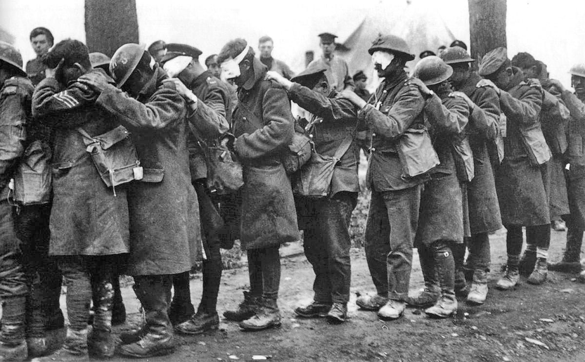 Gasopfer der British 55th Division am 10. April 1918 bei der Flandernschlacht.