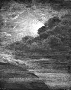 Die Erschaffung des Lichts von Gustave Doré