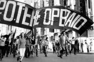 Potere operaio: Demonstration Italien. Gemeinfrei