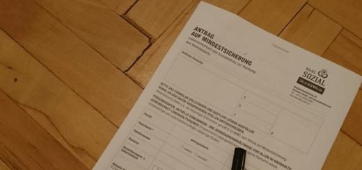 Formular Antrag auf Mindestsicherung