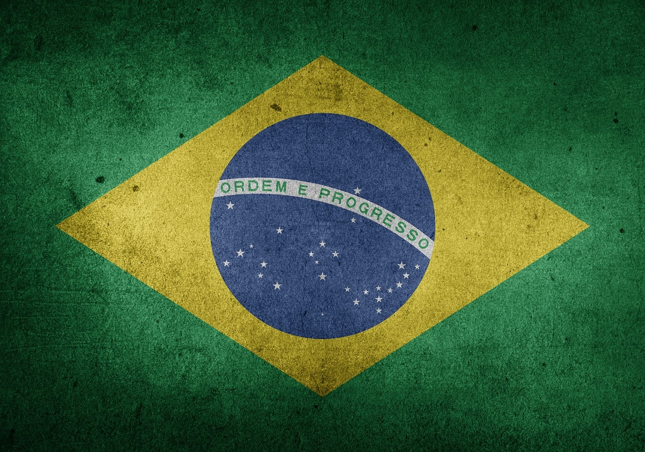 Fahne von Brasilien.
