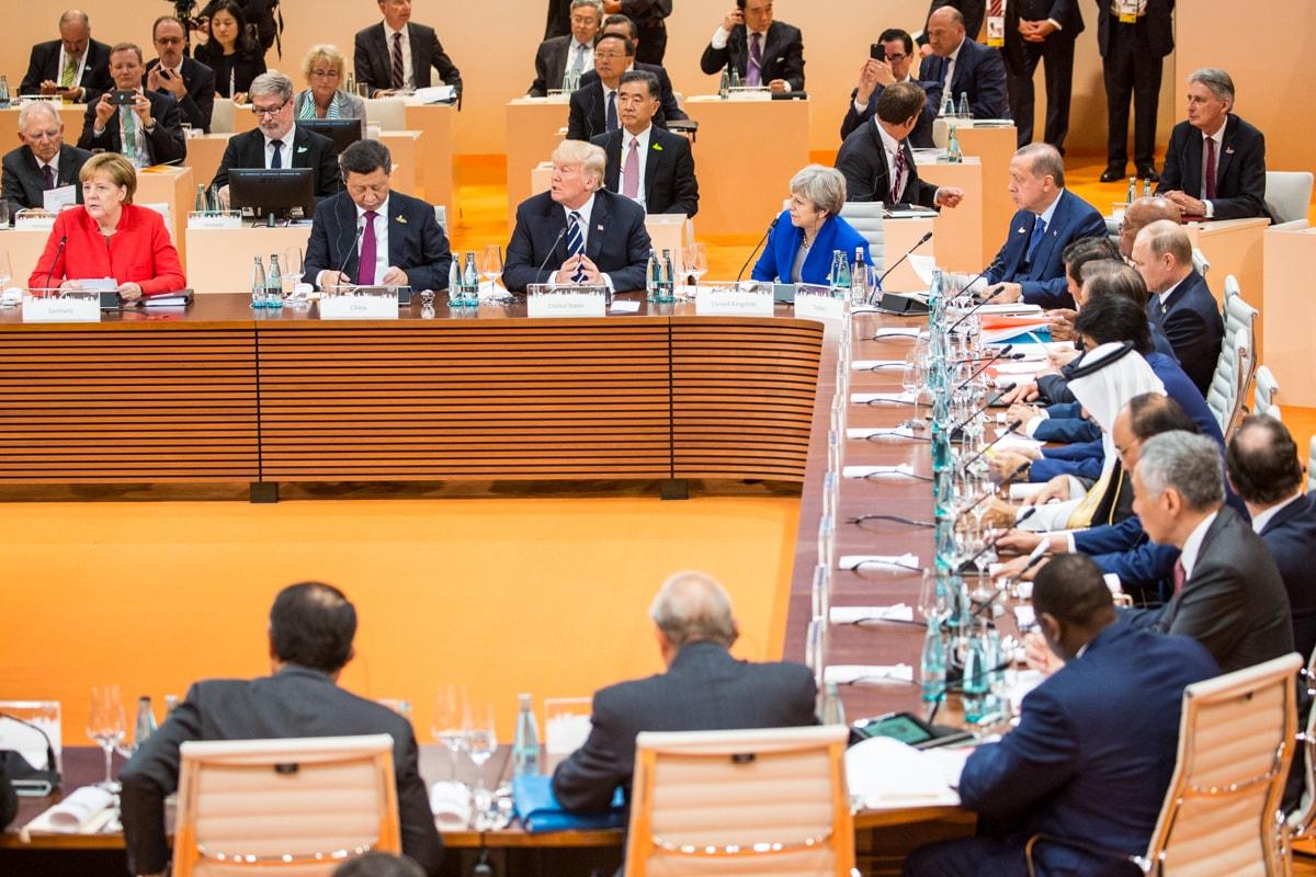 Am Treffen der G20 in Hamburg nahmen u.a. Merkel, Trump, erdogan und Putin teil.