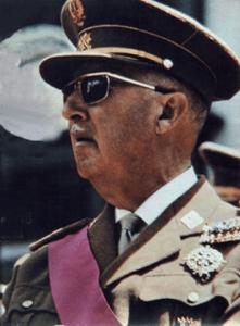 Spaniens Diktator Francisco Franco 1969 in Argentinien.