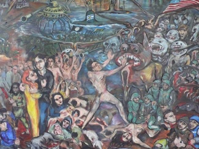 Die Künstlerin Ursula Behr setzt sich in ihren Syrienbildern mit Krieg und Tod auseinander.