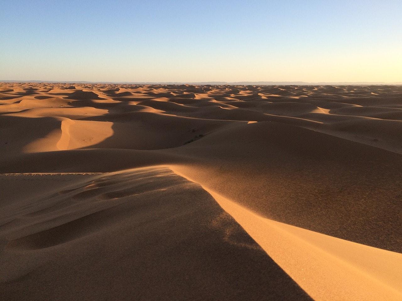 Wüste und Sand in Afrika.